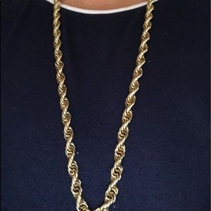 Thick Solid & Heavy Rope Chain 36""
